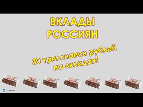 ВКЛАДЫ, ЗАРПЛАТЫ И КРЕДИТЫ РОССИЯН. Часть 1 - Вклады: 30 трлн - это много или мало?