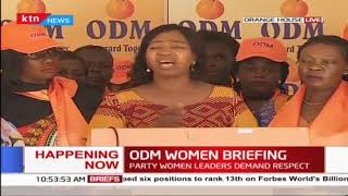 ODM women leaders demand respect, saying the party is a democratic space