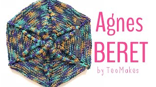 How to knit a beret - Agnes Beret   TeoMakes