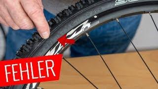 Größte Fehler bei der Schlauch/Reifen Montage - Fahrrad.org