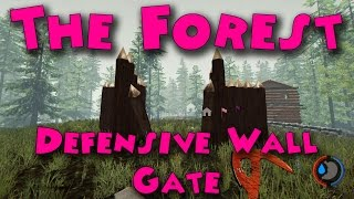 The Forest - How to build a Defensive Wall Gate