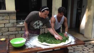 Making Soparnik In Croatia