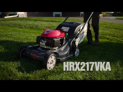 Honda Power Equipment HRX217VKA GCV200 Self Propelled in Escanaba, Michigan - Video 1