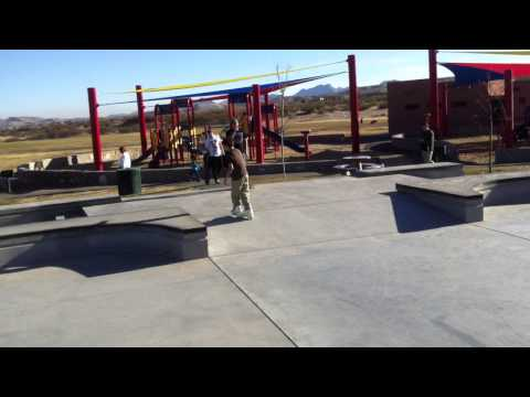 Rollerblading at the Las Cruces Skatepark