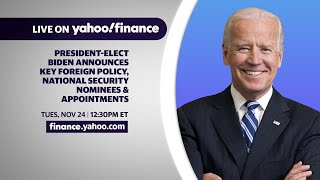 President-elect Biden shares key foreign policy, national security nominees & appointments