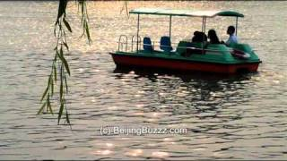 Video : China : Sunset boating in BeiHai Park 北海公园, BeiJing