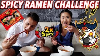 🔥 Extreme Spicy Ramen Challenge 🔥 | 2x Spicy Fire Nuclear Korean Noodles | Couple Challenge