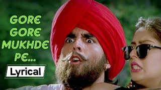 Gore Gore Mukhde Pe With Lyrics | Suhaag (1994) | Nagma