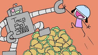 TacoBot 3000 (Part 3 of the Raining Tacos saga) - Parry Gripp - animation by BooneBum