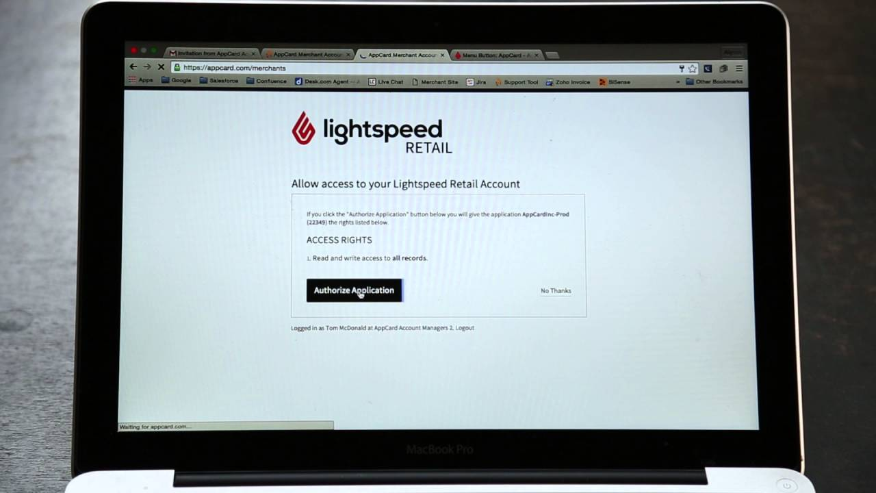 AppCard for Lightspeed: Getting Started