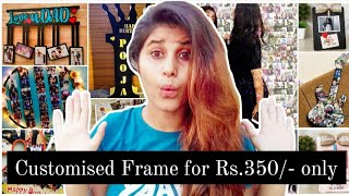 15 Customised wooden frames for gifting/home decoration | Frames with your name, photo and message