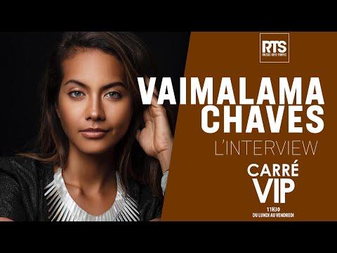 Vaimalama Chaves miss France 2019 dans Carré Vip sur RTS FM