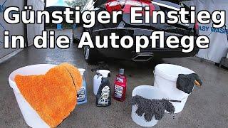 Günstiges Autopflege Einsteiger Set || Wie viel braucht man wirklich? || Richtige Wäsche SB Waschbox