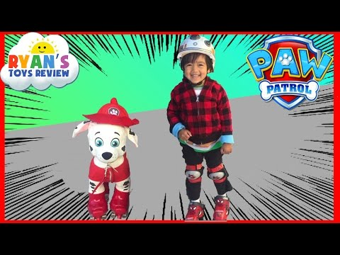 First time Roller Skating with Ryan ToysReview