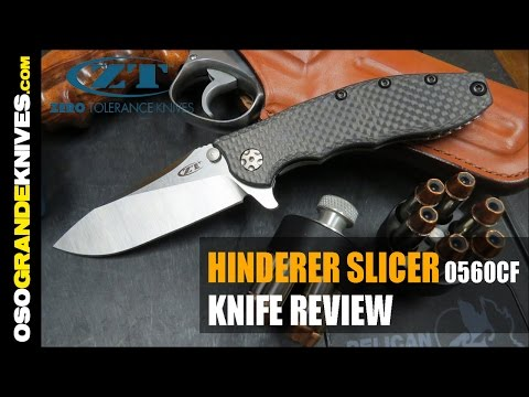 Zero Tolerance 0562CF Hinderer Slicer Carbon Fiber Folding Knife Review OsoGrandeKnives