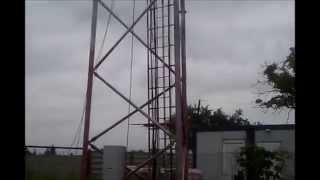 Mycie wieży telefonii komórkowej
