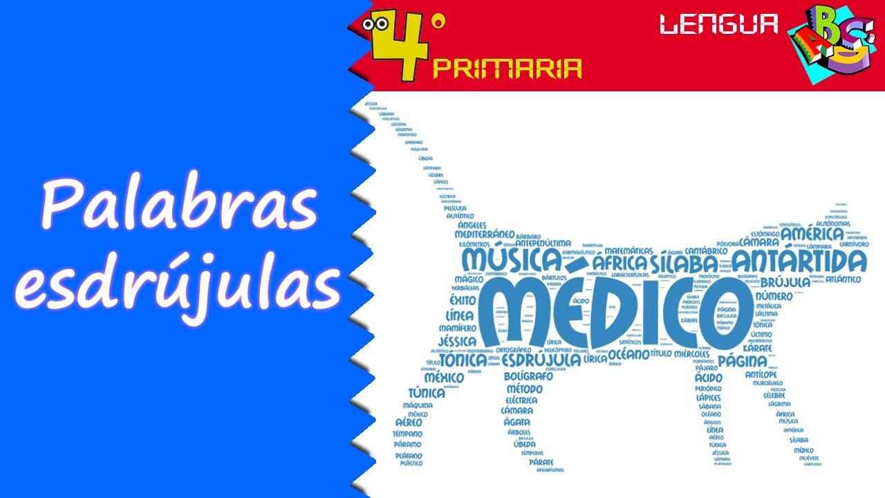 Lengua Castellana. 4º Primaria. Tema 4. Palabras esdrújulas