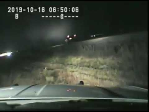 Highway Patrol saves man seconds before a train crash.
