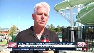 Boy thrown from waterpark slide
