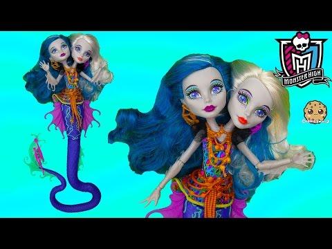 Monster High MERMAID Great Scarrier Reef 2016 Peri & Pearl Serpintine  Doll Unboxing - Cookieswirlc