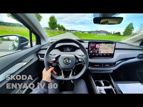 New Skoda Enyaq iV 80 2021 Test Drive Review POV