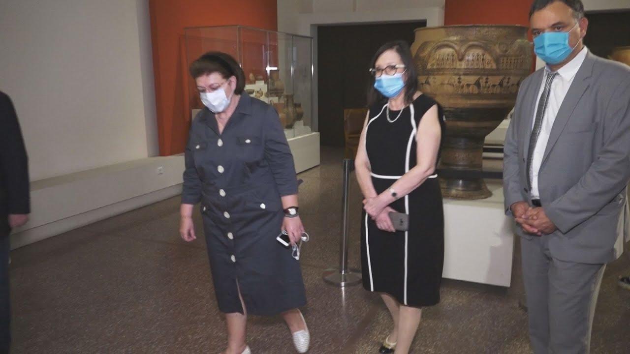 Στο Eθνικό Αρχαιολογικό Μουσείο  η υπουργός Πολιτισμού