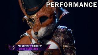 "Fox sings ""Tennessee Whiskey"" by Chris Stapleton | THE MASKED SINGER | SEASON 2"
