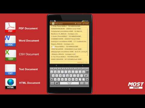 Video of Contacts to PDF