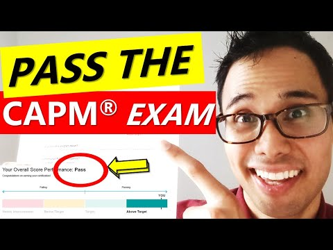 How to PASS the CAPM Exam on Your FIRST TRY! | CAPM EXAM ...