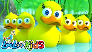 🦆 Five Little Ducks 🦆 THE BEST Song for Children | LooLoo Kids