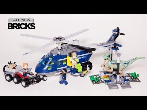 Vidéo LEGO Jurassic World 75928 : La poursuite en hélicoptère de Blue