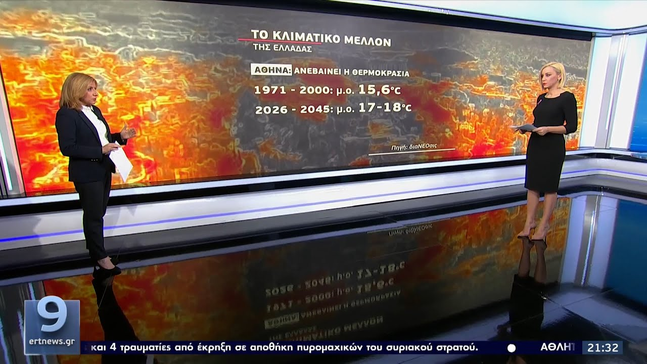 Κλιματική κρίση: Εφιαλτική άνοδος της θερμοκρασίας στην Ελλάδα ΕΡΤ 20/10/2021