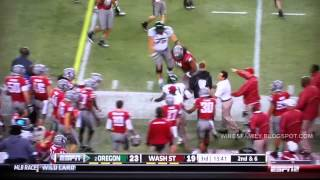 Oregon Highlights  vs Washington St. 9/29/2012