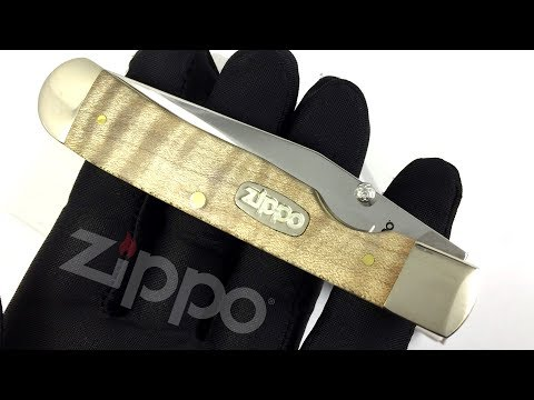 50609 Нож перочинный Zippo Natural Curly Maple Wood TrapperLock, 105 мм, бежевый