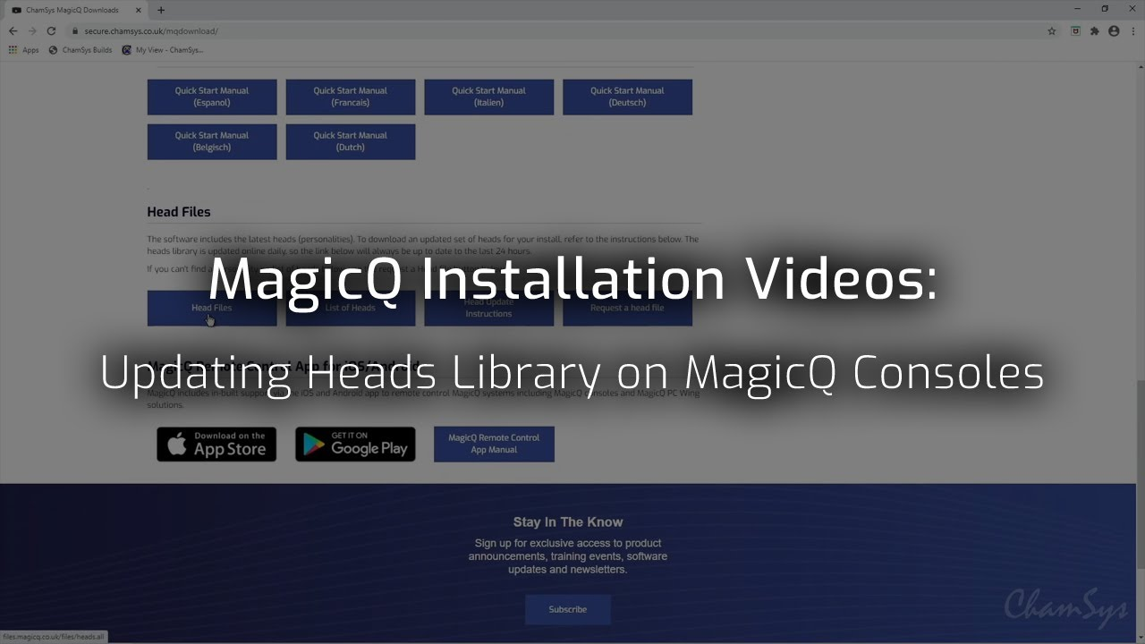 Updating Heads Library on MagicQ Consoles