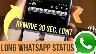 How to Post Long Video on WhatsApp Status | [WhatsApp Trick]