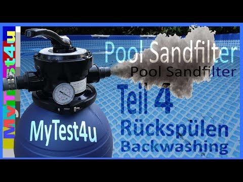 Rückspülen / Backwashing Sandfilteranlage Teil 4 (TIP SFP 180)