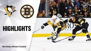 NHL Highlights | Penguins @ Bruins 1/16/20