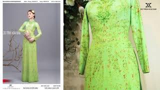 Mẫu áo dài hoa nhí đẹp nhất | Áo Dài Đỗ Trịnh Hoài Nam