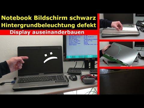 Notebook Bildschirm schwarz - Display zerlegen - externen Monitor aktivieren - [4K Video]