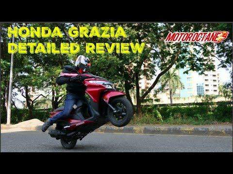 Motoroctane Youtube Video - Honda Grazia Review in Hindi   vs Activa 125, Top Speed, 125cc scooter, Mileage   MotorOctane