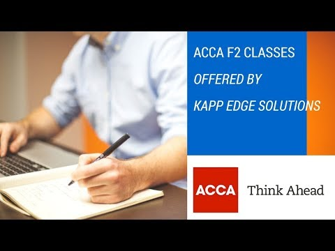 ACCA F2 classes in Hindi