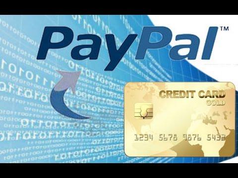 Как пополнить счет PayPal с кредитной карты