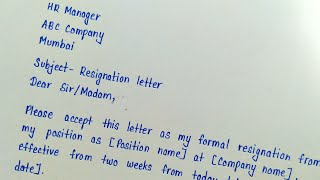 Write a resignation letter in english || Letter writing || How to write a resignation letter