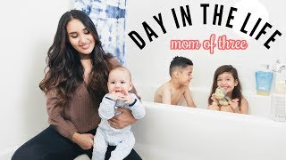 REAL DAY IN THE LIFE AS A MOM OF THREE! (with a new baby)