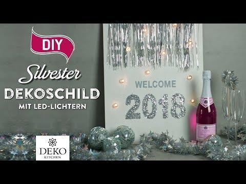 DIY: beleuchtetes Silvester-Dekoschild für 2018 [How to] Deko Kitchen