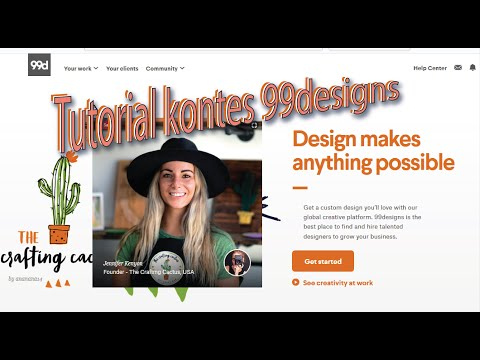 Video cara ikutan kontes designs di 99designs
