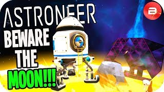 Death is ONE STEP away on the Moon in Astroneer 1.0 (Astroneer Gameplay)