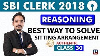 SBI Clerk Pre 2018 | Sitting Arrangement | Reasoning | Live at 11:00 am | Class - 30