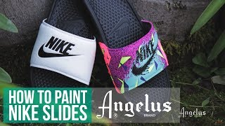 Summer Slides | How To Custom Slides With Angelus Paint